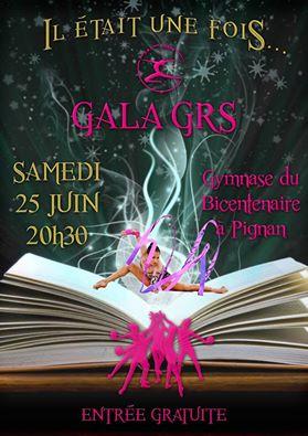 Affiche gala GRS Pignan Juin 2016